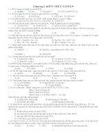 Bài tập  tổng hợp môn hóa