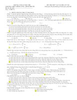 ĐỀ THI THỬ VẬT LÝ ĐẠI HỌC LẦN VII (Có đáp án)