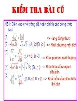 Tiet 13- Rút gọn biểu thức chứa căn thức bậc 2