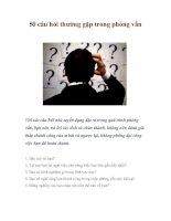 50 câu hỏi thường gặp trong phỏng vấn