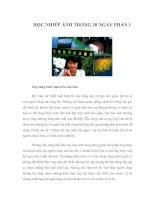 HỌC NHIẾP ẢNH TRONG 30 NGÀY - PHẦN 1