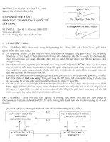 Đáp án đề thi lần 1 môn thanh toán quốc tế lớp K9KT (đại học dân lập văn lang)