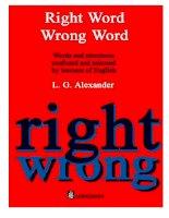 Phân biệt từ vựng tiếng Anh : Right Word Wrong Word