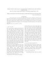 PHÂN TÍCH VÀ ĐỀ XUẤT CÁC KỊCH BẢN CHÍNH SÁCH CHO NGÀNH CHĂN NUÔI BÒ SỮA VIỆT NAM TRONG BỐI CẢNH HỘI NHẬP QUỐC TẾ