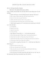 ĐỀ KIỂM TRA MÔN LỊCH SỬ, HỌC KÌ II, LỚP 8 Đề số 1