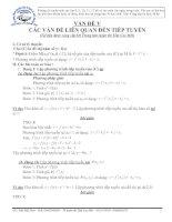 VĐ Tiếp tuyến và các bài toán trong đề thi ĐH&CĐ