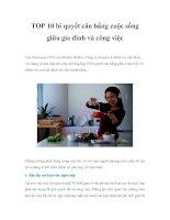 TOP 10 bí quyết cân bằng cuộc sống giữa gia đình và công việc lisa druxman, CEO