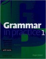 Grammar in practice 1   thực hành ngữ pháp tiếng anh cơ bản