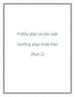 9 điều phải có cho một landing page hoàn hảo