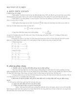 Bài tập về tụ điện