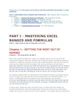 Công thức và hàm Excel 2007 Anh - Việt của Paul Mcfedries (phần I)