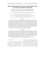 NGHIÊN CứU TUYểN CHọN GIốNG Và VậT LIệU CHE PHủ THíCH HợP CHO LạC XUÂN TạI xã Lệ VIễN - huyện SƠN ĐộNG - tỉnh BắC GIANG