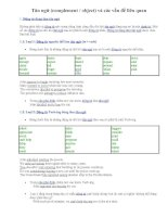 Ôn TN12-Tân ngữ (complement, object) và các vấn đề liên quan