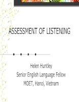 ASSESSMENT OF LISTENING