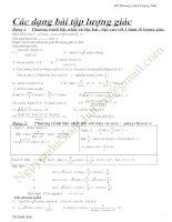 Các dạng bài tập phương trình lượng giác