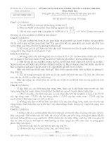 đề thi vào chuyên sinh ninh bình 09-010