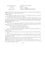 ĐỀ THI THỬ KỲ THI HỌC SINH GIỎI LỚP 9 CẤP TỈNH MÔN GIÁO DỤC CÔNG DÂN - SỞ GIÁO DỤC VÀ ĐÀO TẠO LONG AN