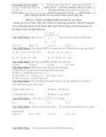 Đề- Đáp án KT học kỳ II -Toán 11 cơ bản