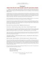 Tài liệu kế toán chương II bảng cân đối kế toán và báo cáo kết quả kinh doanh