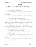 MỘT SỐ Ý KIẾN ĐỀ XUẤT ĐỐI VỚI PHƯƠNG PHÁP HẠCH TOÁN BẤT ĐỘNG SẢN ĐẦU TƯ19
