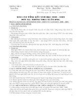 Báo cáo tổng kết năm học 08-09