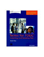 Tactics for TOEIC - Listening and Reading test