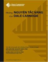 Những nguyên tắc vàng của Dale Carnegie