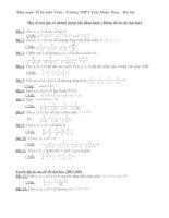 Bài tập về bất đẳng thức (dùng được)