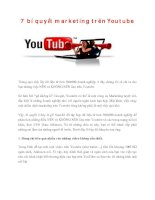 7 bí quyết marketing trên youtube