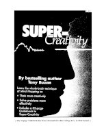 Super creativity - Tony Buzan