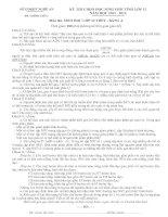 ĐỀ THI CHỌN HỌC SINH GIỎI TỈNH LỚP 12 NĂM HỌC 2011 – 2012 MÔN SINH HỌC LỚP 12 THPT - SỞ GD&ĐT NGHỆ AN