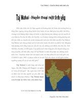 taj mahal - Huyền thoại một tình yêu
