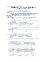 Chọn học sinh giỏi  Anh 8 Test 6
