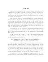"""""""MỘT SỐ BIỆN PHÁP NÂNG CAO HIỆU QUẢ QUẢN LÝ NHÀ NƯỚC  ĐỐI VỚI HOẠT ĐỘNG GIA CÔNG HÀNG XUẤT KHẨU"""