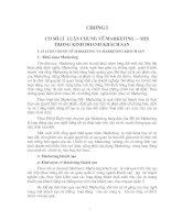 Các giải pháp hoàn thiện chính sách Marketing-mix tại công ty khách sạn du lịch Kim Liên
