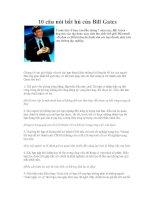 Những câu nói bất hủ của Bill Gates