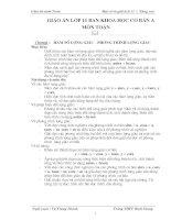 giáo án đại số và giải tích 11