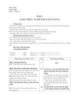 GIÁO ÁN CÔNG NGHỆ 9 -CẢ NĂM- CỰC HAY