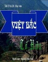 tiết 25 7 26 : Việt bắc