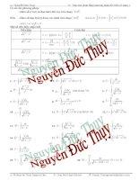 Các bài toán tích phân về đối biến số dạng 1