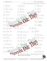 Các bài toán về tích phân từng phần