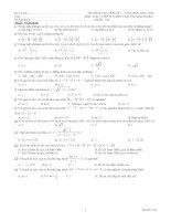 đề thi học kì 1lớp 10 nâng cao 40 câu trắc nghiệm