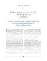 Cloud Computing Identity Management