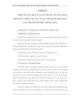 NHỮNG ĐÁNH GIÁ, NHẬN XÉT CHUNG VỀ HIỆU QUẢ SỬ DỤNG VỐN CỦA CÔNG TY XNK TẠP PHẨM - TOCONTAP.