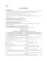 Bài 1. Mệnh đề (lớp 10 CB)