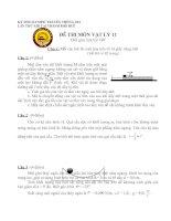 Đề thi OLYMPỎtuyền thống 30/4 lần XIII TẠI Quốc Học-Huế