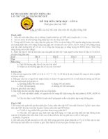 Đề thi HSG 10 -11 TP Huế