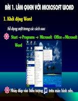 Bài 1: Làm quen với Microsoft word