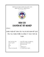 Kế toán chi phí bán bán hàng và chi phí quản lý doanh nghiệp tại Công ty TNHH Thép An Thịnh