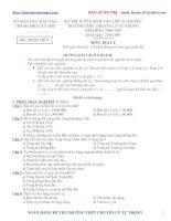 Tuyể sinh ĐỊa 10( 06-07) Cần Thơ